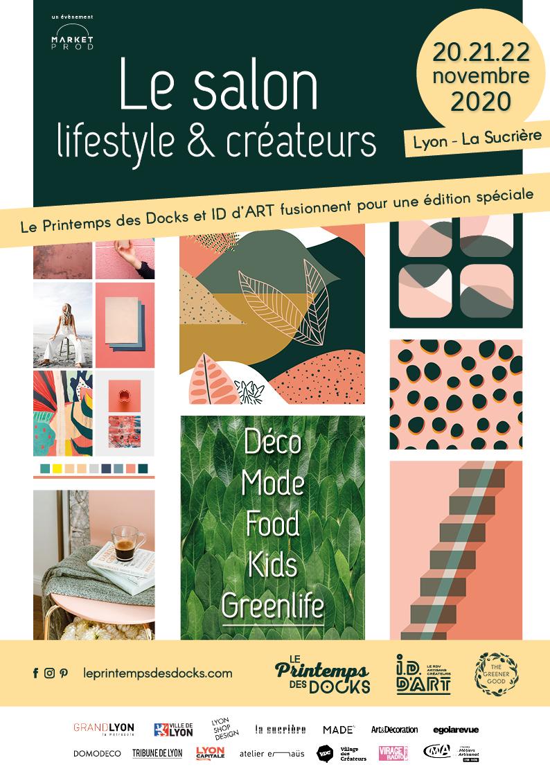 Affiche 2020 Le Printemps des Docks x I.D. d'ART Lyon